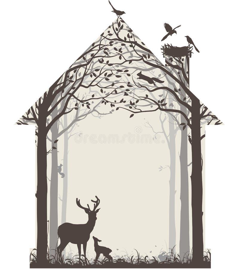Natura nasz dom ilustracji