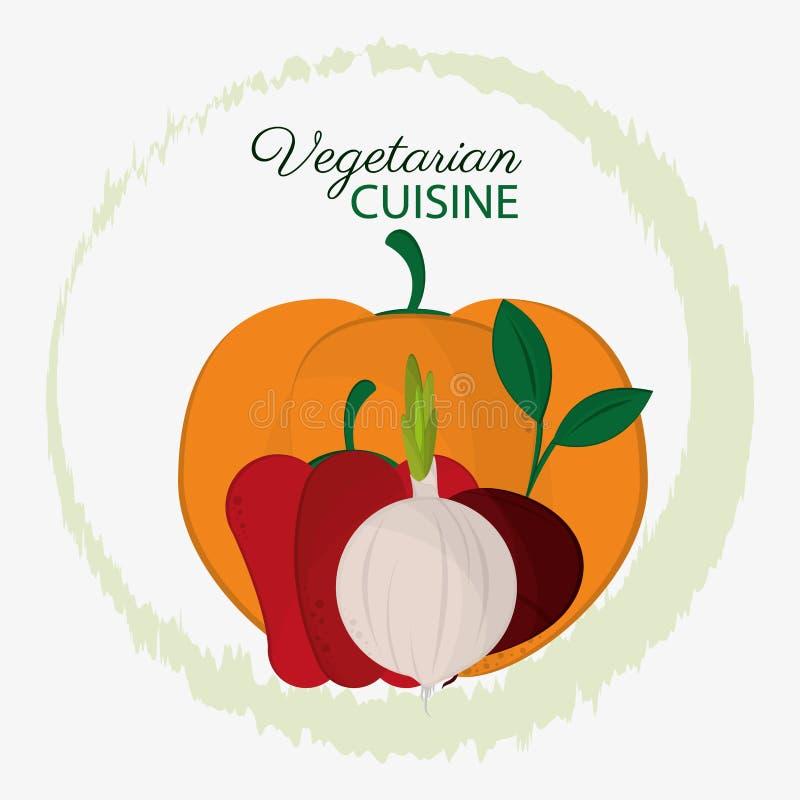 Natura organica di cucina delle verdure vegetariane degli ingredienti illustrazione vettoriale