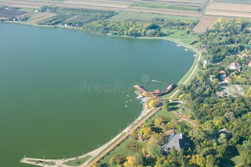 Natura park Palic - widok z lotu ptaka obrazy royalty free