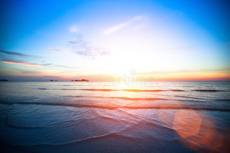 Natura piękny zachód słońca morza Podróż obraz royalty free