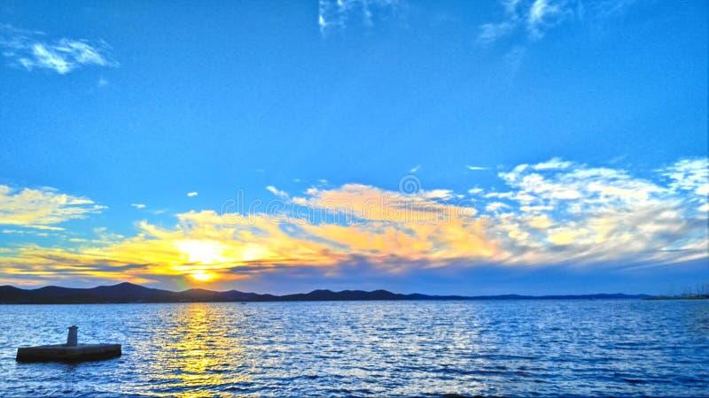 Natura of sea. The nature of Zadar and sea stock photography