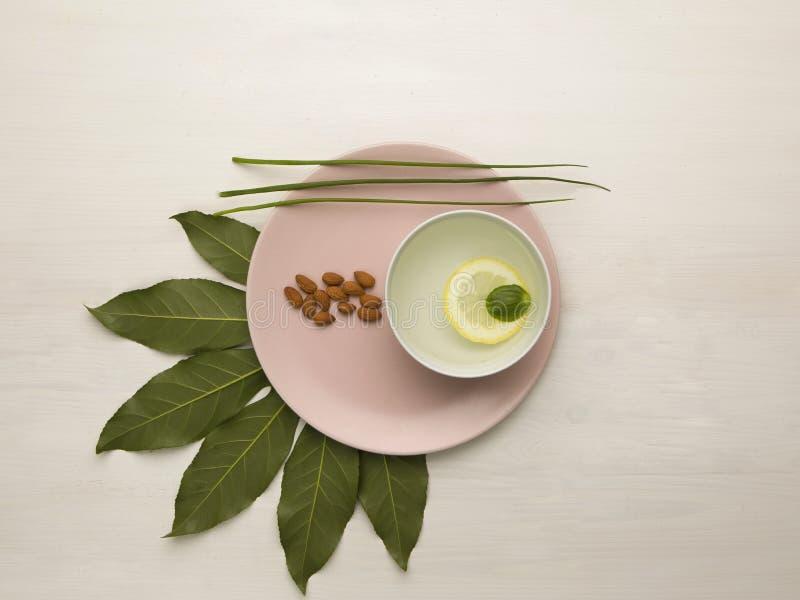 Natura verde sulla tavola immagine stock