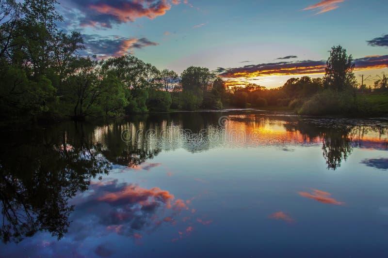 Natura vicino a Mosca Inizio dell'estate fotografia stock libera da diritti