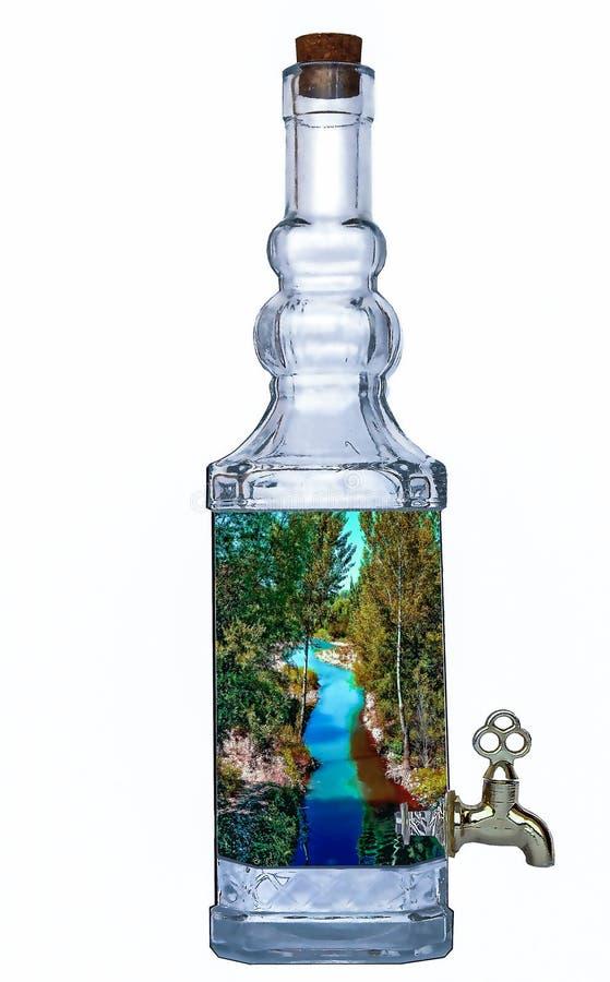 Download Natura w butelce obraz stock. Obraz złożonej z niebo - 57663579