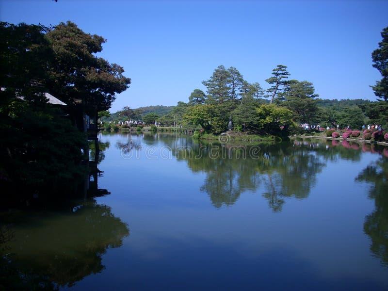 Natura w jeziorze obraz stock