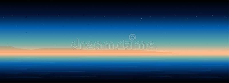 Natura widok piękny wschód słońca tło ilustracji