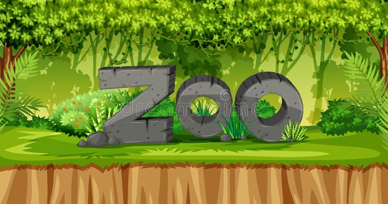 Natura zoo szablon ilustracja wektor