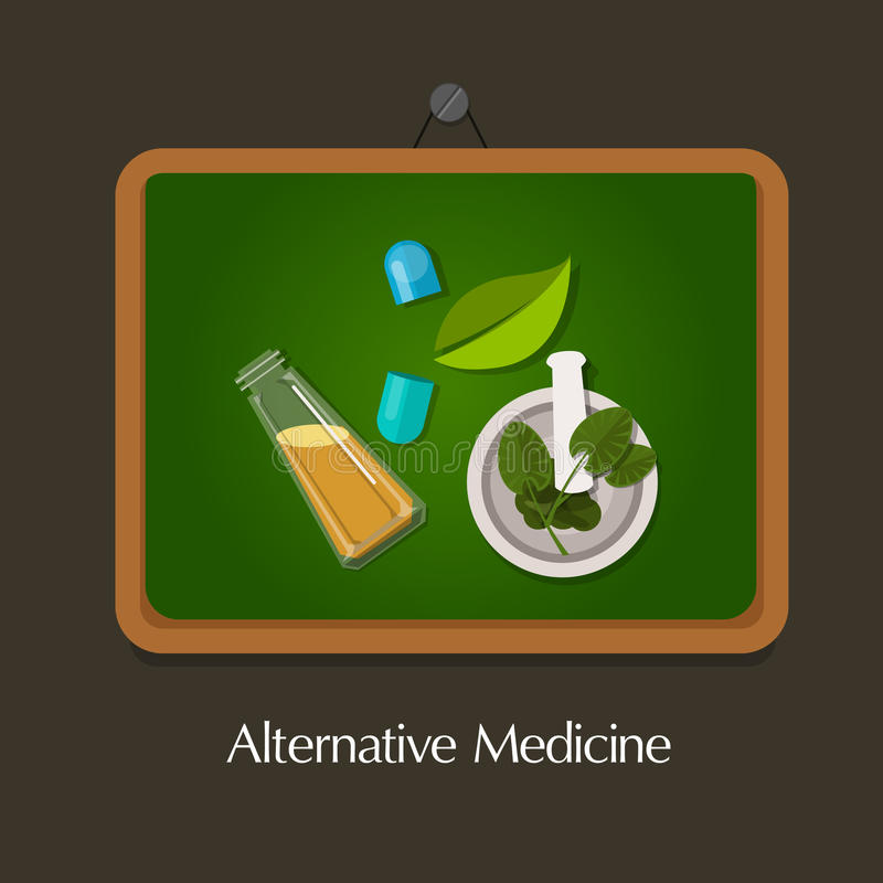 Natural alternative medicine traditional. Natural alternative medicine homeopathy traditional health way royalty free illustration