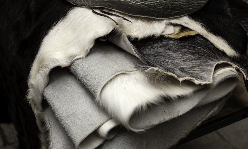 Natural animal skins royalty free stock image