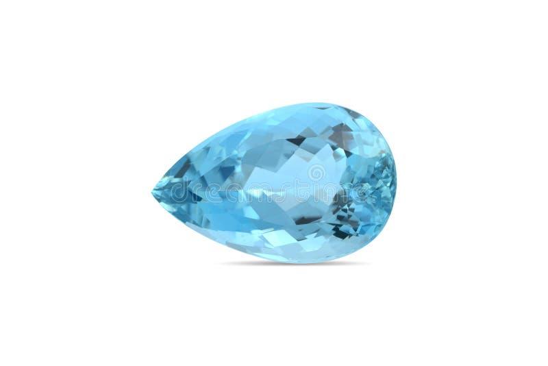 Natural Aquamarine gemstone royalty free stock images