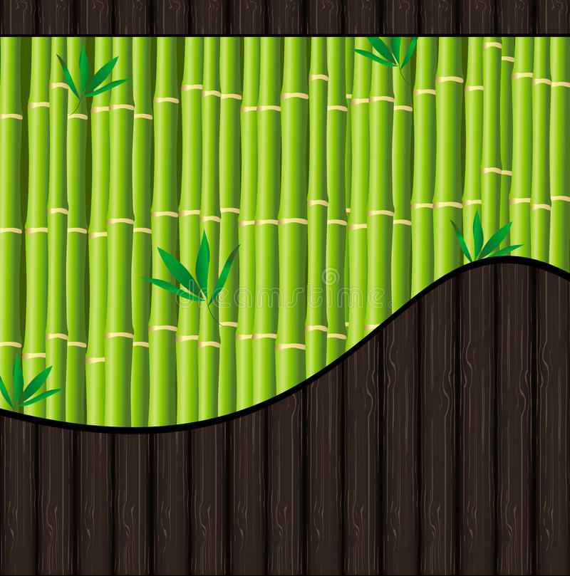 Natural Background With Bamboo And Wood Royalty Free Stock Photography