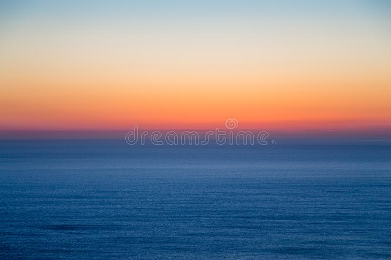 Seascape with colorful evening sky. stock images
