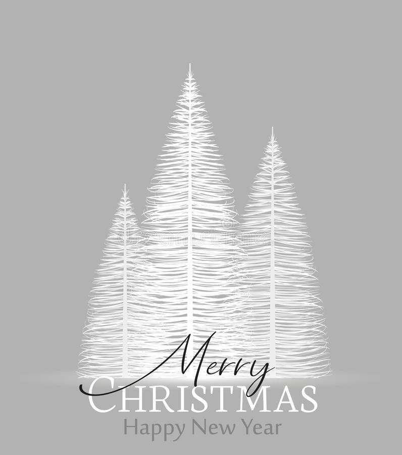 Natural background with christmas tree royalty free stock image