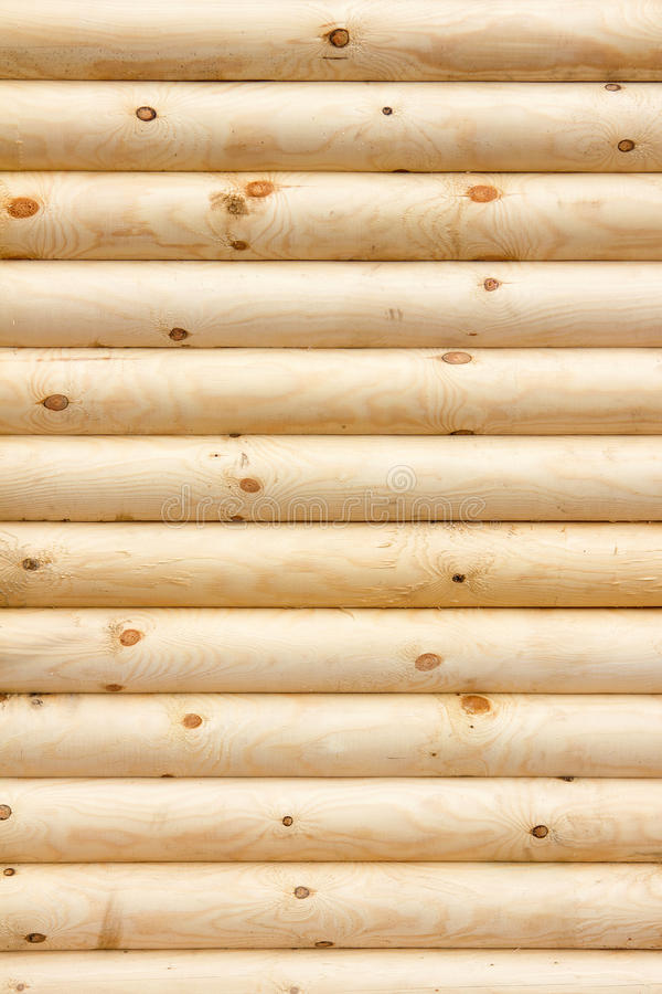 Natural background pattern of a log wall royalty free stock images