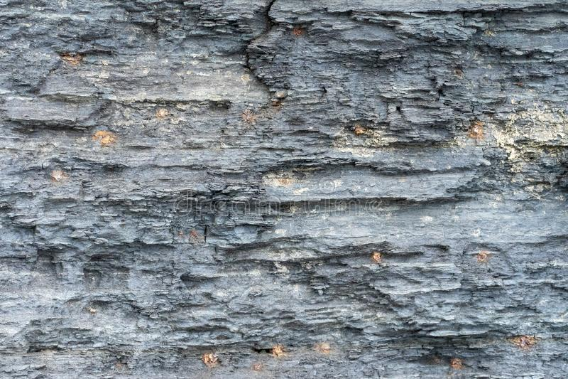 Natural background. Texture of grey sandstone layers stock image