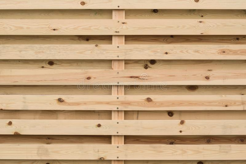 Natural background of wooden horizontal slats.  stock photography