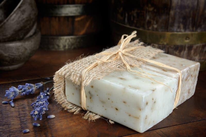 Natural bar soap royalty free stock image