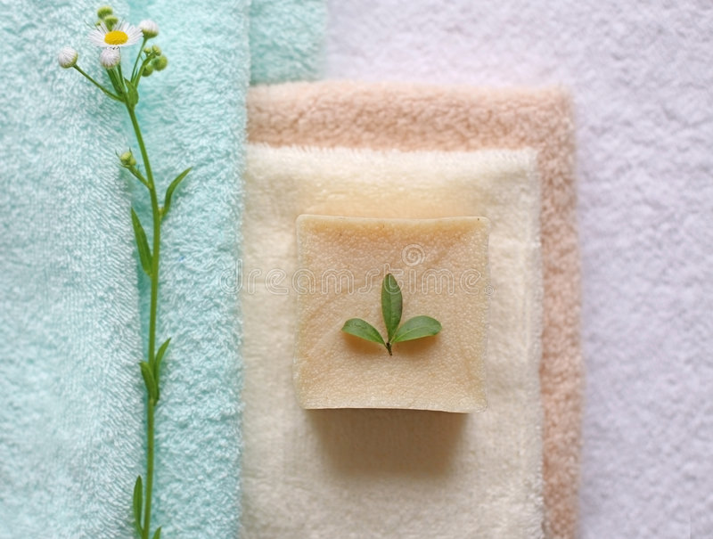 Natural bath products royalty free stock images