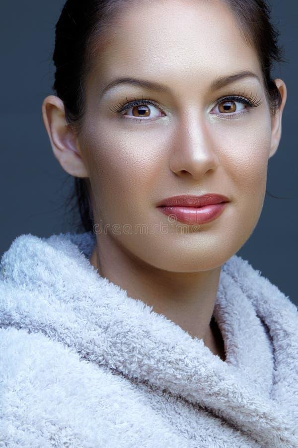 Natural beautiful woman stock images