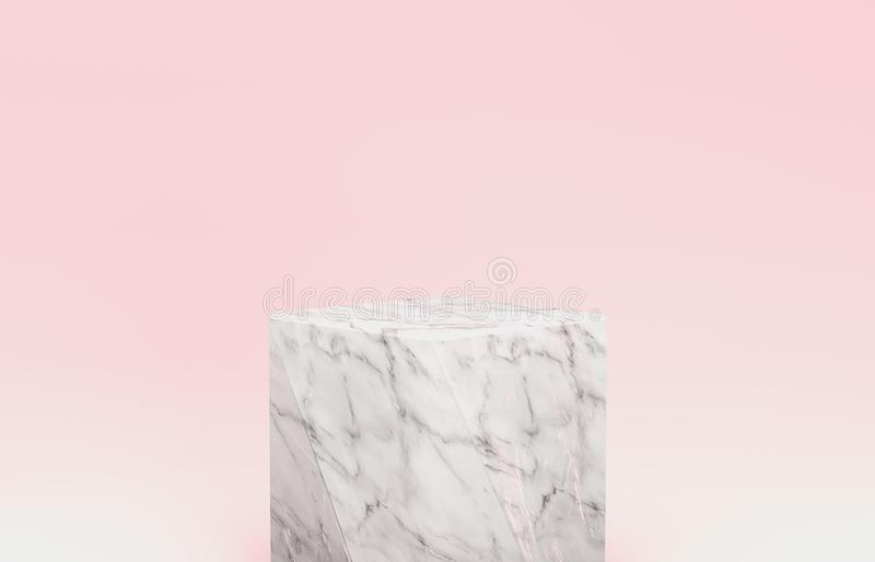 Natural beauty backdrop for cosmetic product display. fashion beauty pastel color background. royalty free illustration