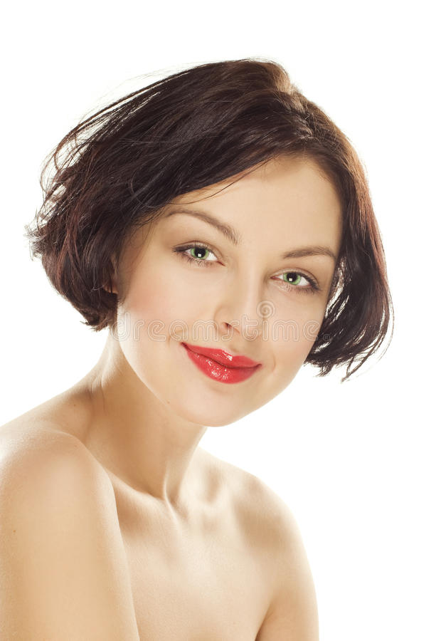 Download Natural Beauty Girl With Good Skin Smiles Stock Photo - Image of makeup, clear: 17632764