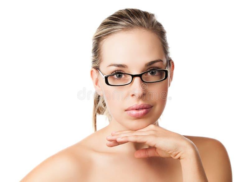 Natural beauty makeup girl stock photos