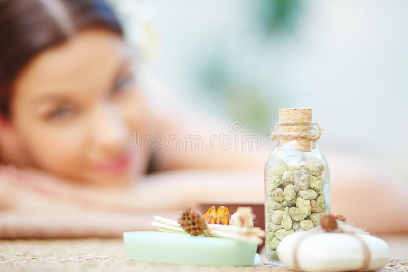 Natural beauty products stock images