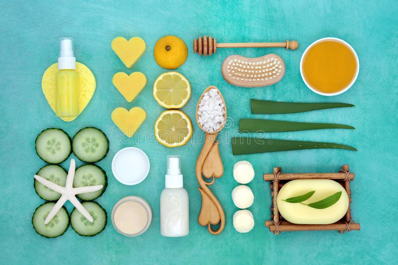 Natural Beauty and Skin Care Treatment royalty free stock photos