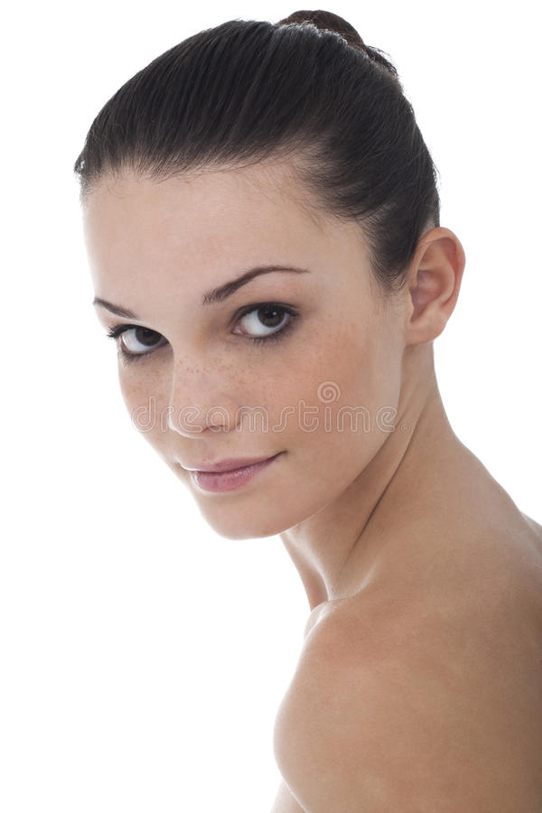 Natural Beauty on White stock photos