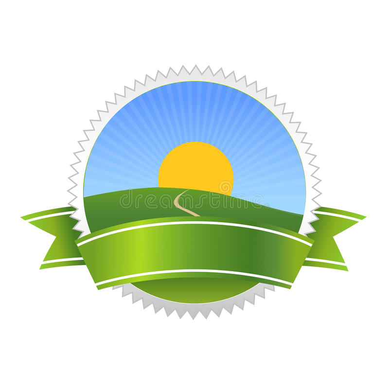Natural bio food badge symbol royalty free illustration