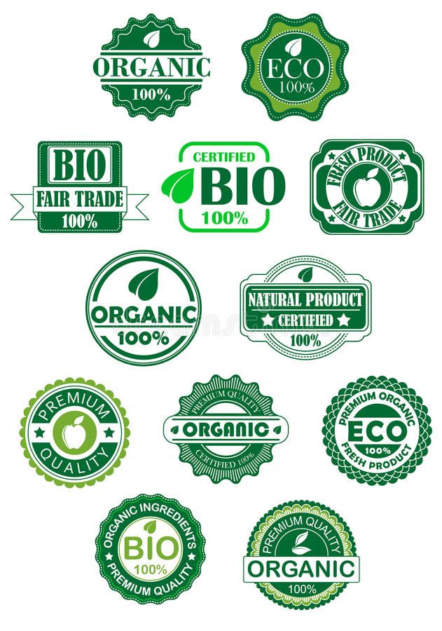 Download Natural and bio labels stock vector. Illustration of border - 33855827