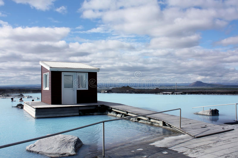 Download Natural Blue Lagoon At Jarðböðin, Iceland Stock Image - Image of relaxation, bath: 21065437