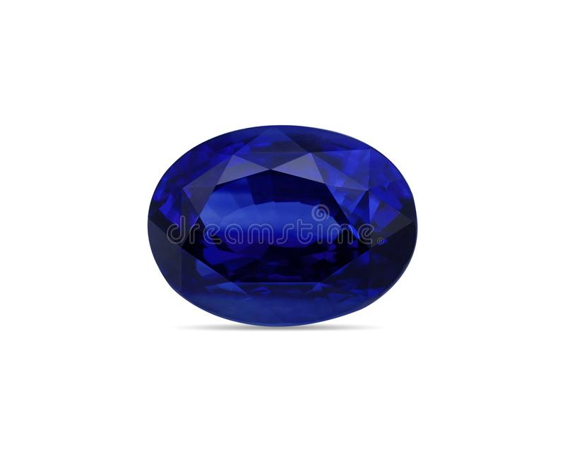 Natural Blue Sapphire gemstone stock photo