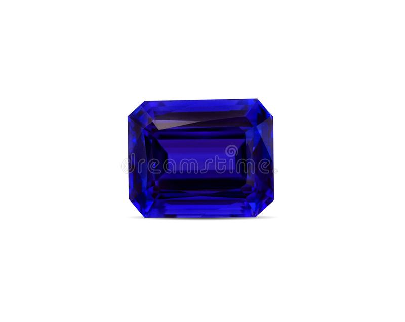 Natural Blue Sapphire gemstone stock images