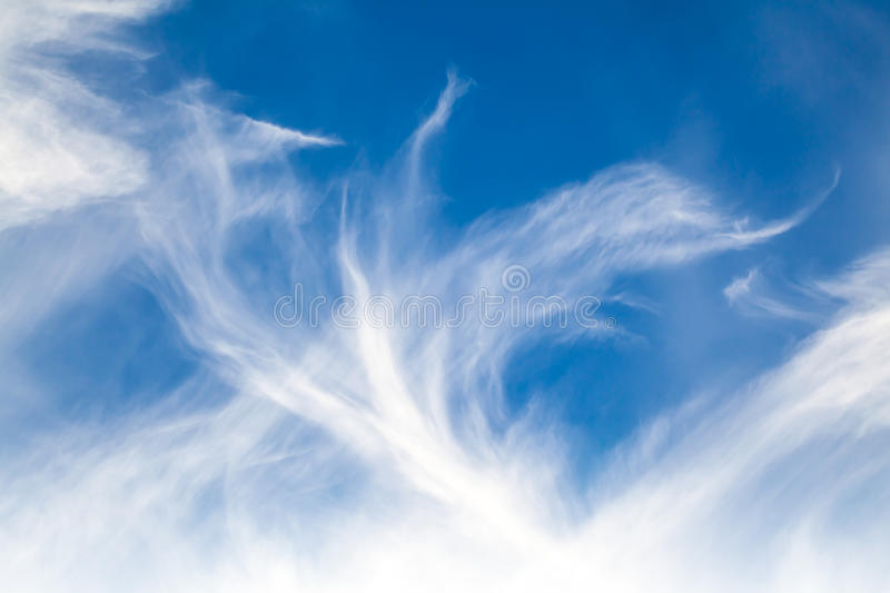 Natural blue windy cloudy sky background royalty free stock image