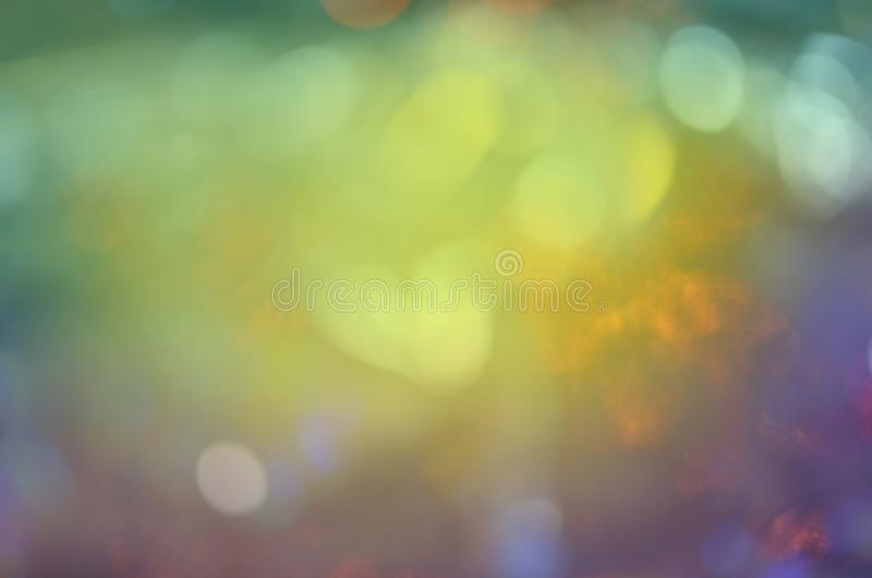 Natural blurred bokeh. Abstract bokeh green background. Beautiful nature green background with round bokeh. Spring or summer abstract bokeh nature background stock image