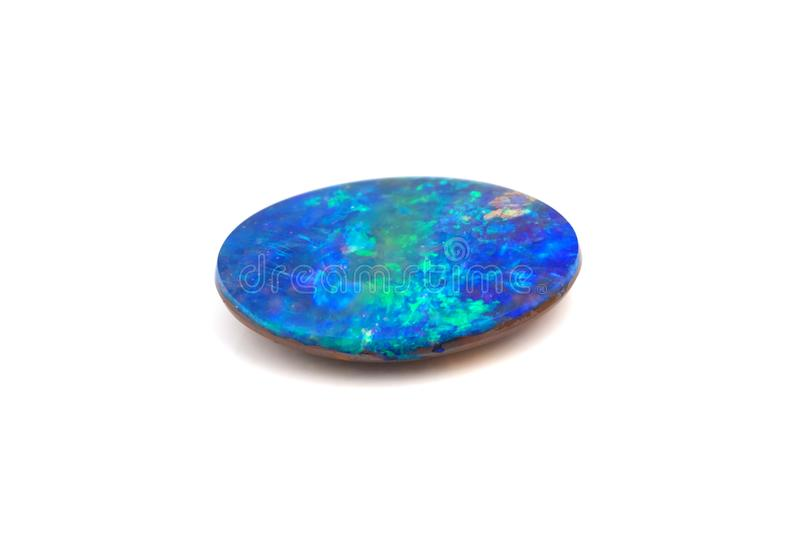 Natural Boulder Opal gemstone royalty free stock images