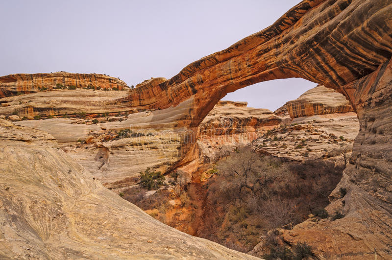 Natural Bridge and its creek in Red Rock Country royalty free stock photos