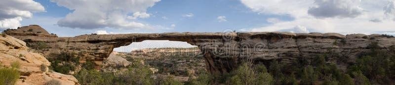 Natural bridge panorama 2 royalty free stock photos