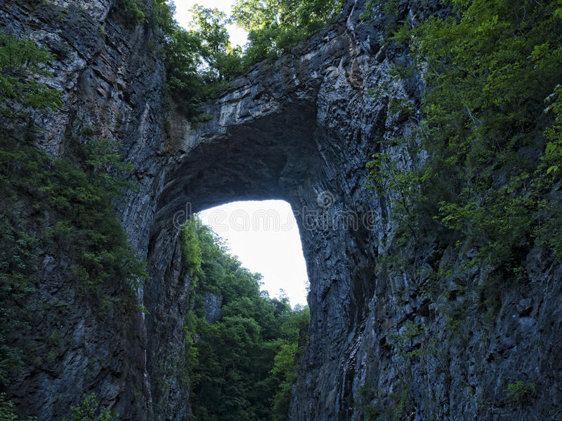 The Natural Bridge in Rockbridge County, Virginia, once owned by Thomas Jefferson. Natural Bridge in Rockbridge County, Virginia, is a geological formation in stock images