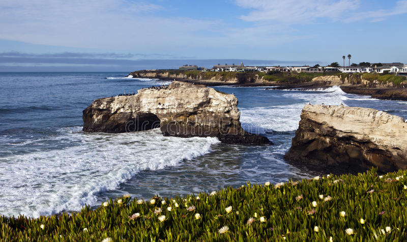 Natural Bridge at Santa Cruz royalty free stock photo