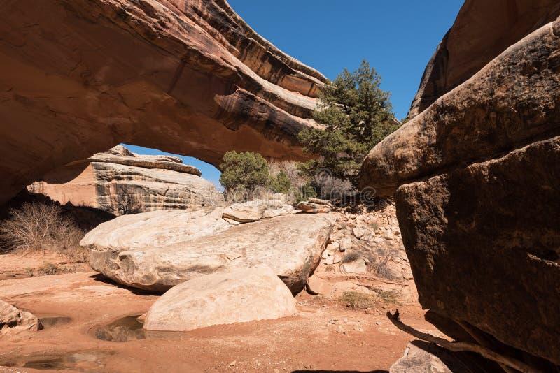 Natural Bridges National Monument in Utah stock images