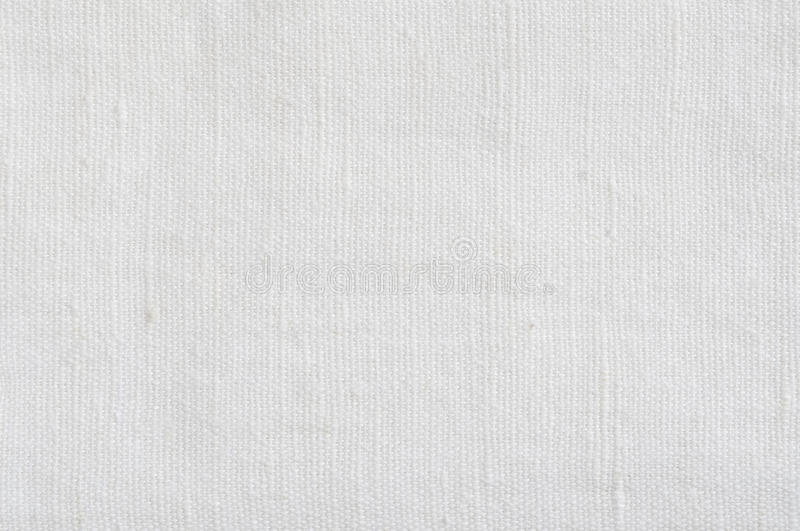 Natural Bright White Flax Fiber Linen Texture, Detailed Horizontal Macro Closeup, rustic crumpled vintage textured fabric burlap. Canvas pattern royalty free stock image