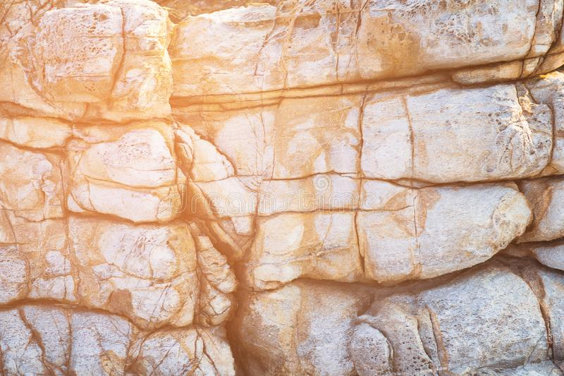 Natural brown stone sea side texture. Natural background and texture stock photography