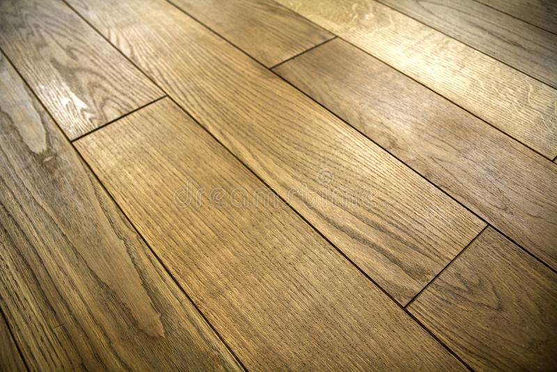 Natural brown texture wooden parquet floor boards stock photo