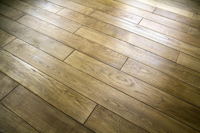Natural brown texture wooden parquet floor boards royalty free stock image