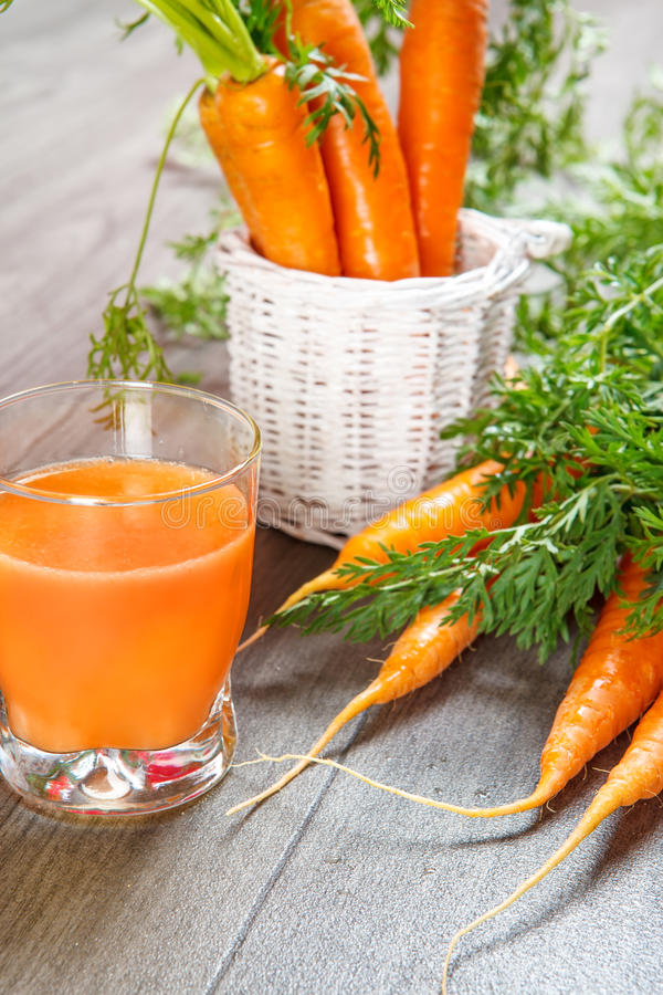 Natural carrot juice royalty free stock image