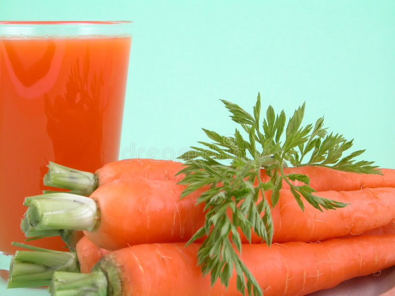 Natural carrot juice royalty free stock photo