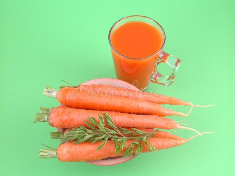Natural carrot juice stock image