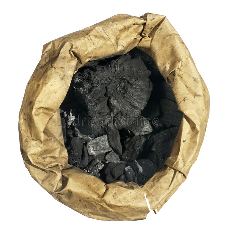 Natural charcoal in paper envelope